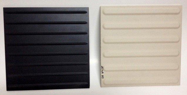 Directional Tiles, Pocelain, Black
